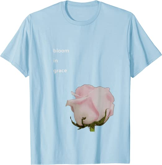 Blooms Hope Beauty Unisex T-Shirt S Blue Flowers Peace Sign Floral Flower Tshirt 3XL