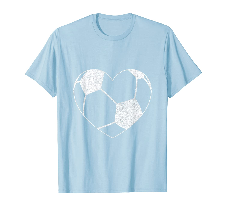Soccer Ball Heart Mom Fan Parent Fashion T-Shirt