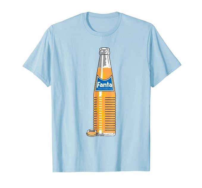 Amazon.com: Coca-Cola Fanta Glass Retro Bottle Graphic T ...