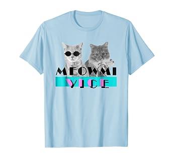Amazon.com: Gatito meowmi Vice 80s Miami t shirt – Los ...