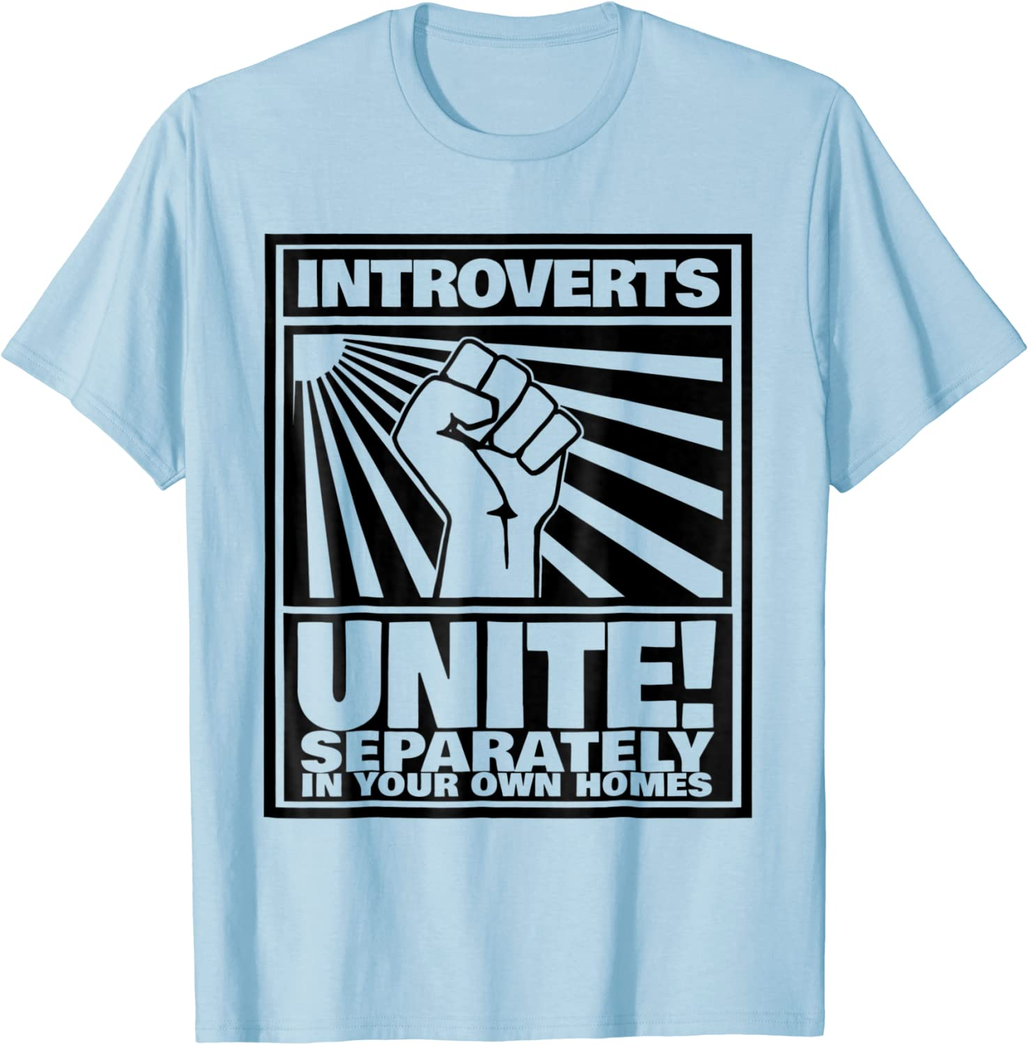 Introverts Unite! We're Here We're Uncomfortable And We Want To Go Home T- shirt or Tank Top Goodness Gray Shirts