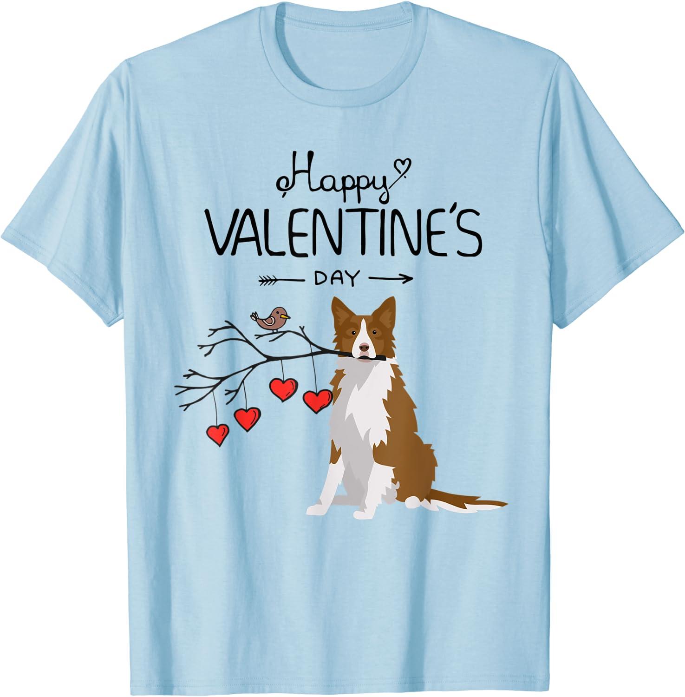 Sheep Dog Puppy Pet I Love My Border Collie Mens T-Shirt Canine Dog