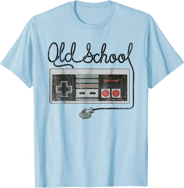 Nintendo Nes Controller Old School Tangled Graphic T-shirt