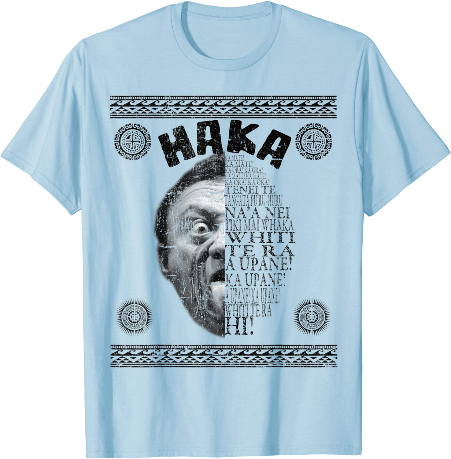 qhwd Haka Rugby Maori Warrior Inspired T-Shirt pour Homme