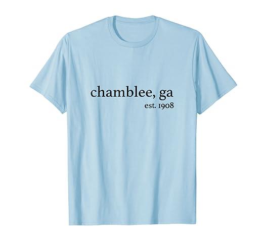 8f4c9f3faf5 Amazon.com  Chamblee Georgia Shirt Tee Established 1908  Clothing