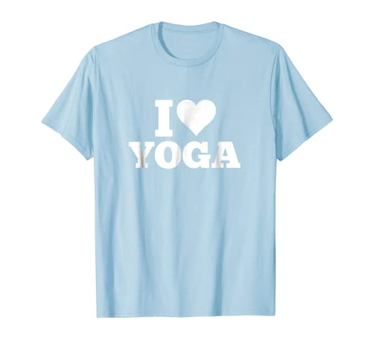 Amazon.com: Yoga tshirt I Heart Yoga Shirt for Yoga Lovers ...