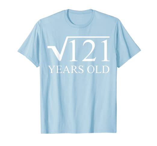 ee9a2cd9f Image Unavailable. Image not available for. Color: 11rd Birthday Tee Shirt  11 Years Old Square Root ...