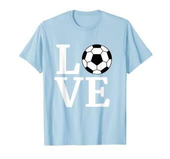 5c8120d35 Image Unavailable. Image not available for. Color: I Love Soccer T-Shirt  Game Player ...