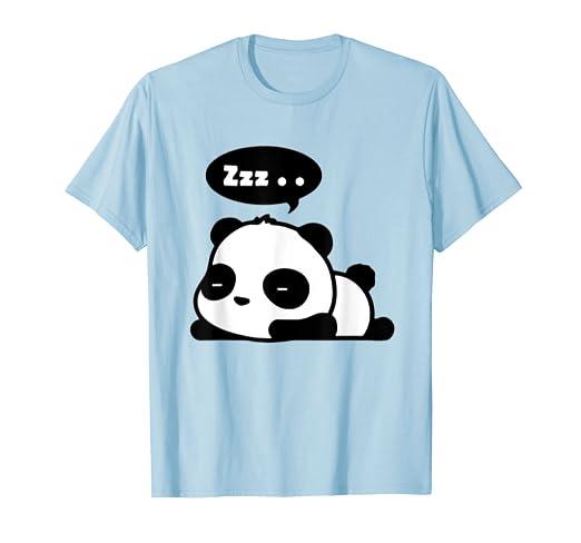 Amazon Com Sleeping Panda T Shirt Adorable Cute Panda Cartoon Zzz