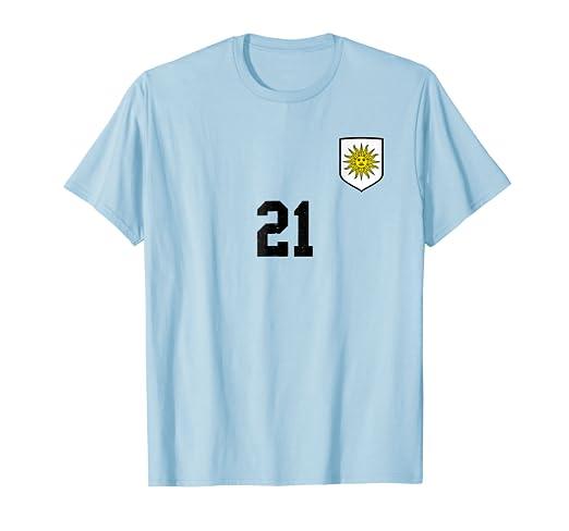 Retro Uruguay Soccer Jersey Celeste Football Futbol T-Shirt