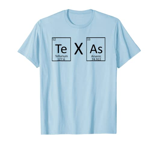 Amazon Texas Periodic Table Of Elements Chemistry T Shirt Clothing
