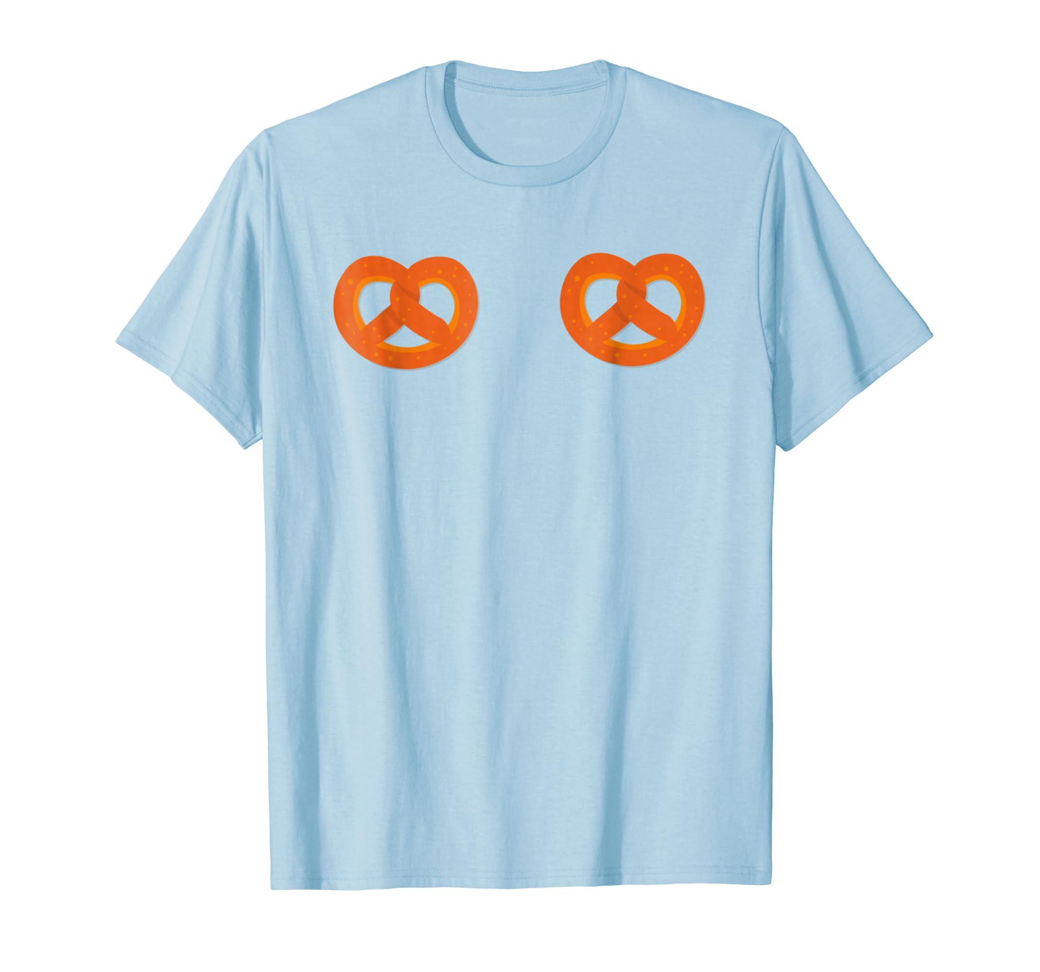 Amazon Com Oktoberfest Costume Pretzel Boobs Bikini Funny Shirt