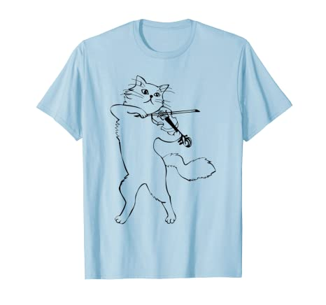 8ff369d8 Image Unavailable. Image not available for. Color: Funny Cat Violin Indie T  shirt