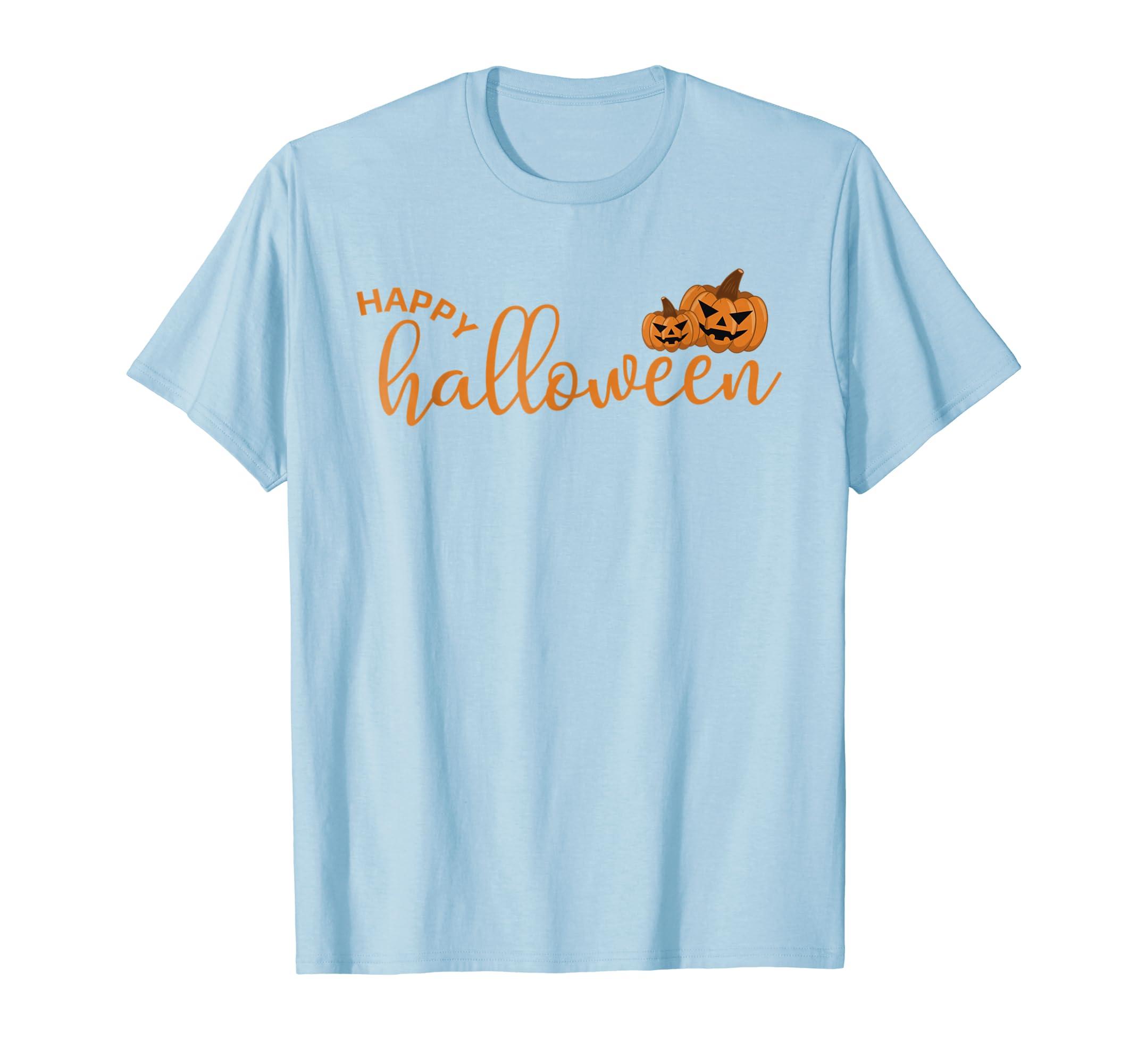 Happy Halloween T-Shirt Candy Pumpkin Spider Crow Fun Tshirt-ANZ