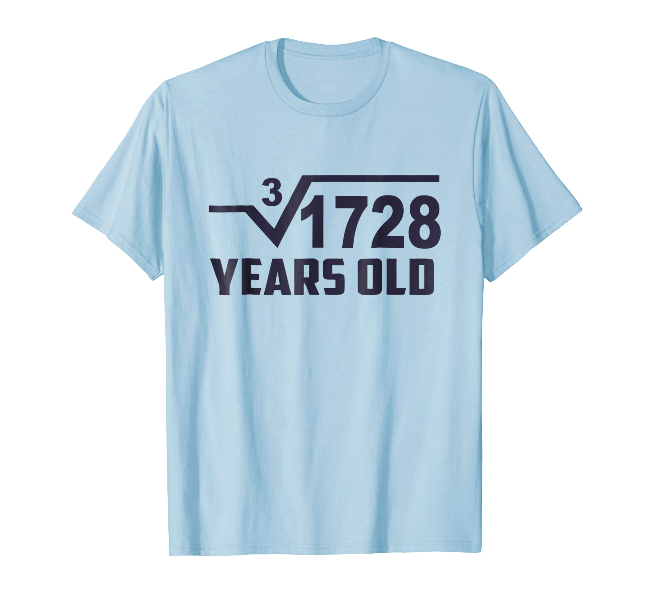 807af8098 Amazon.com: Cube Root of 1728: 12 Years Old Birthday T-Shirt Square Tee:  Clothing