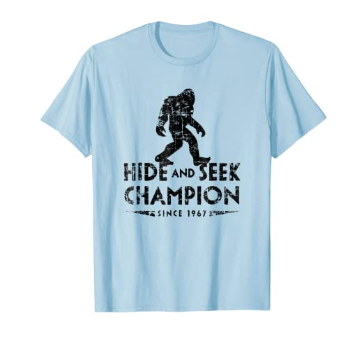 fd8562e785b0 Image Unavailable. Image not available for. Color: Hide & Seek Champion  1967 Shirt Funny Bigfoot Sasquatch Gift