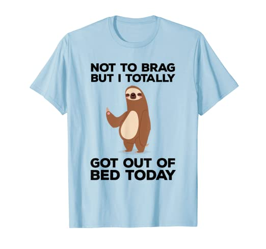 bd273f3dc Image Unavailable. Image not available for. Color: Funny Sloth T-shirt ...