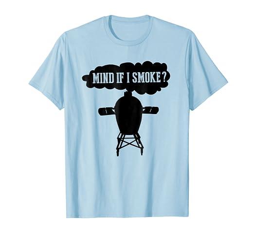 a542206d6 Amazon.com: Mind if I Smoke Funny BBQ Grilling Egg Smoker Tshirts: Clothing
