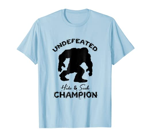 7ee8a2bc7 Image Unavailable. Image not available for. Color: Sasquatch Undefeated Hide  and Seek Champion Funny ...