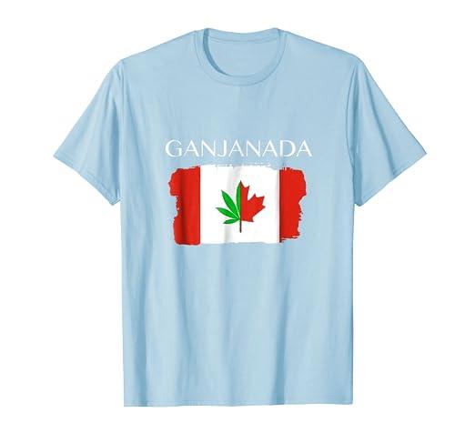Amazon com: Canada Weed 420 Marijuana GANJANADA T-Shirt Gift