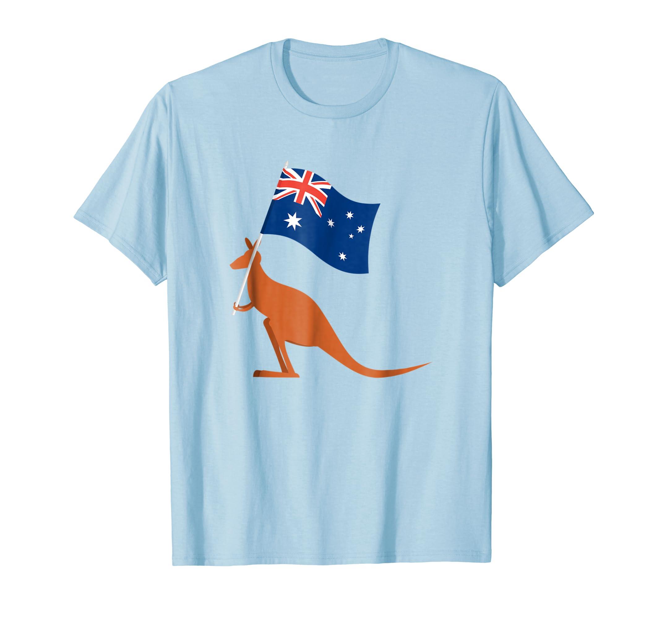 Australia Kangaroo Souvenir T-shirt Vintage Wild Print-AZP