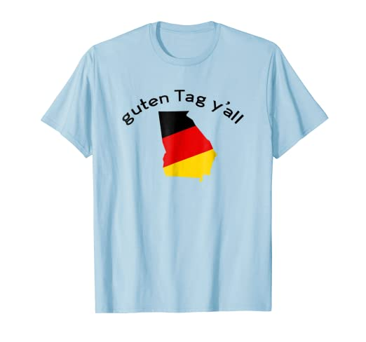 738dd0ce Image Unavailable. Image not available for. Color: Guten Tag Y'all Helen GA  Georgia Funny Oktoberfest T-Shirt