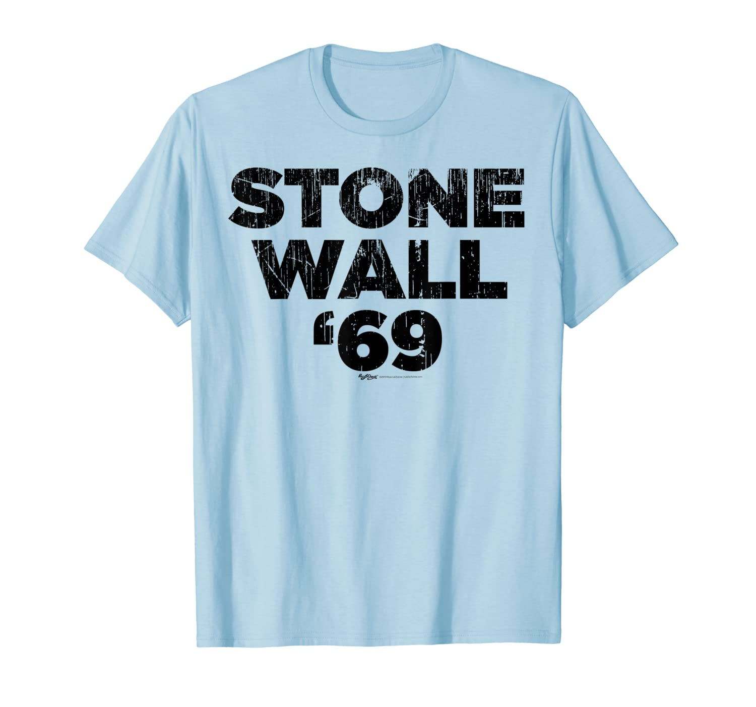 Vintage Stone Wall '69 Gay Pride LGBT Rainbow Flag T Shirt