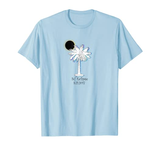 90d68c9a4bc5 Image Unavailable. Image not available for. Color: South Carolina Solar  Eclipse T-Shirt Palmetto State