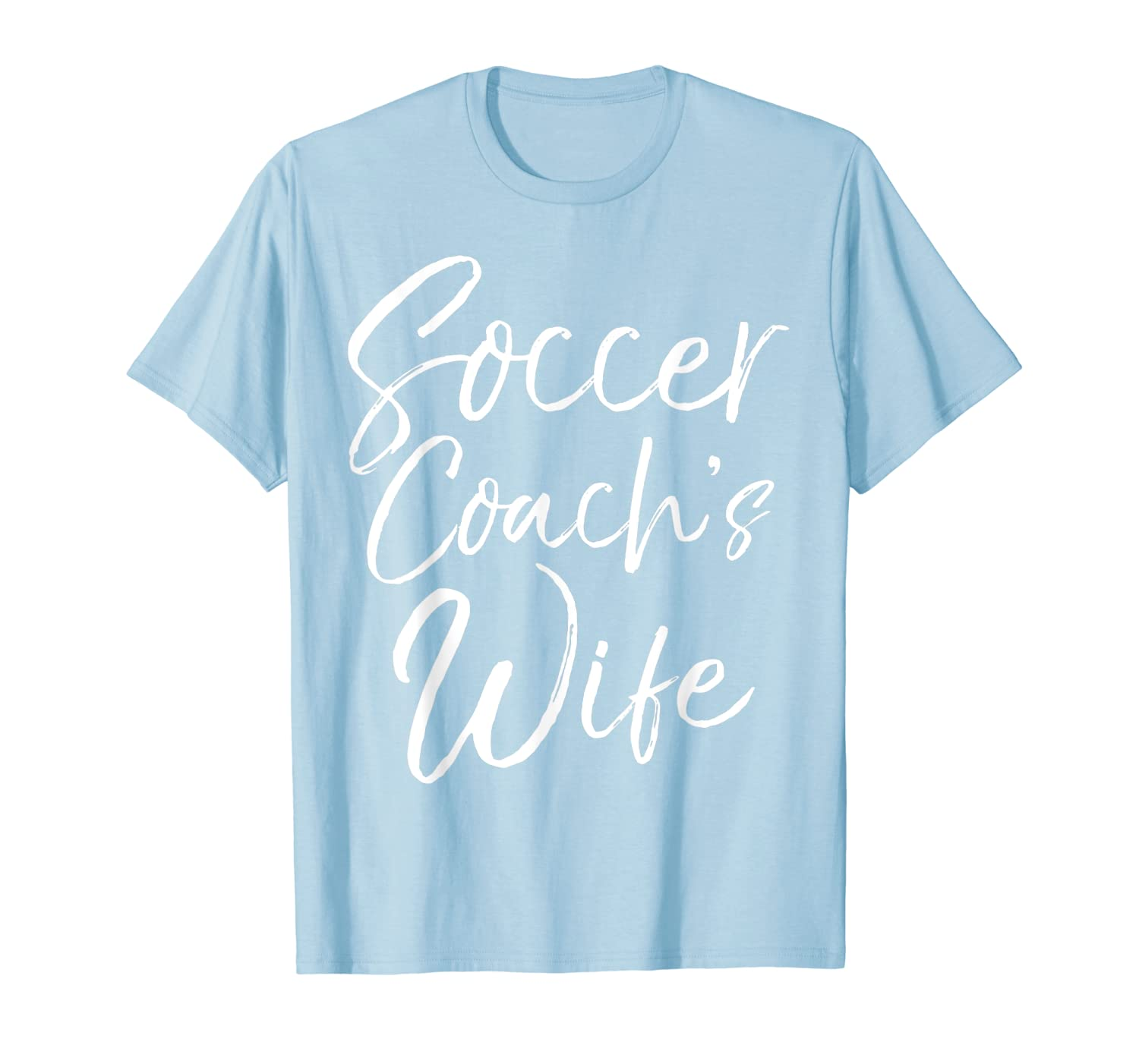 Soccer Coachs Wife Shirt Vintage Fun Relationship Tee