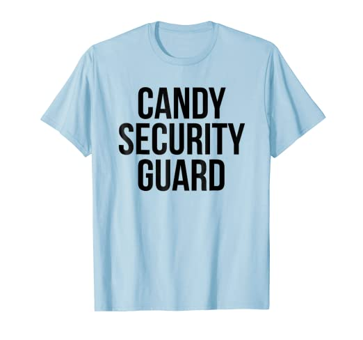 ac6ff248 Image Unavailable. Image not available for. Color: Candy Security Guard  Shirt Funny ...