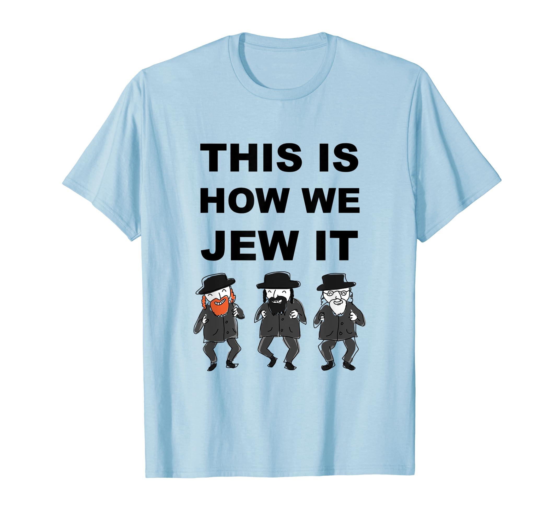 eb93fbc0 Amazon.com: Funny Jewish Shirt   Hanukkah Shirt   Hebrew Shirt: Clothing