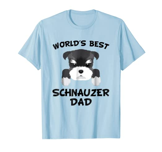 3131eafd Amazon.com: Mens World's Best Schnauzer Dad Dog Owner T-Shirt: Clothing