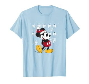 d236919376a Image Unavailable. Image not available for. Color  Disney Faux Ugly  Christmas Sweater Mickey Mouse T Shirt