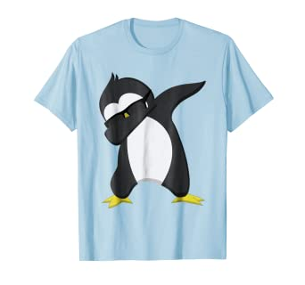 9a6fea204c Image Unavailable. Image not available for. Color: Funny Dabbing Penguin T- Shirt ...
