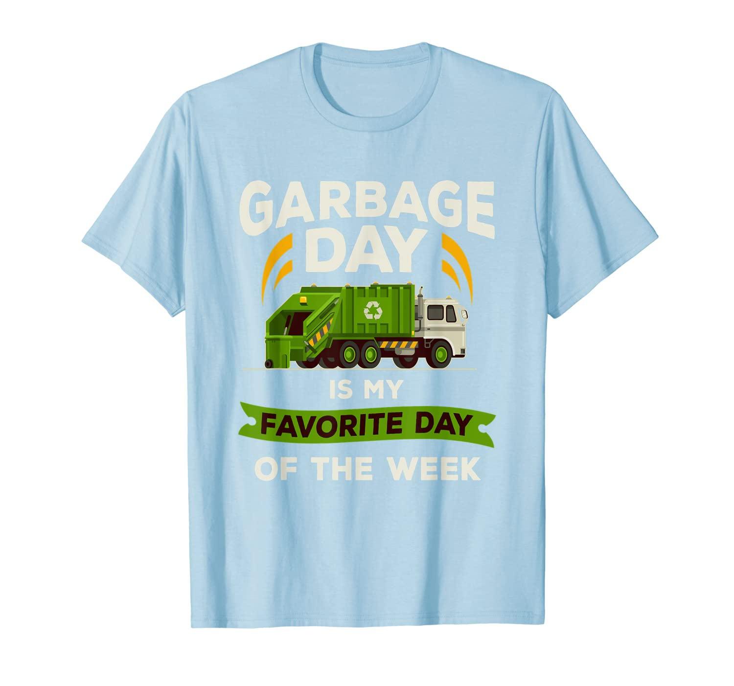 Amazon com: Garbage Day T Shirt Kids City Garbage Truck Tee