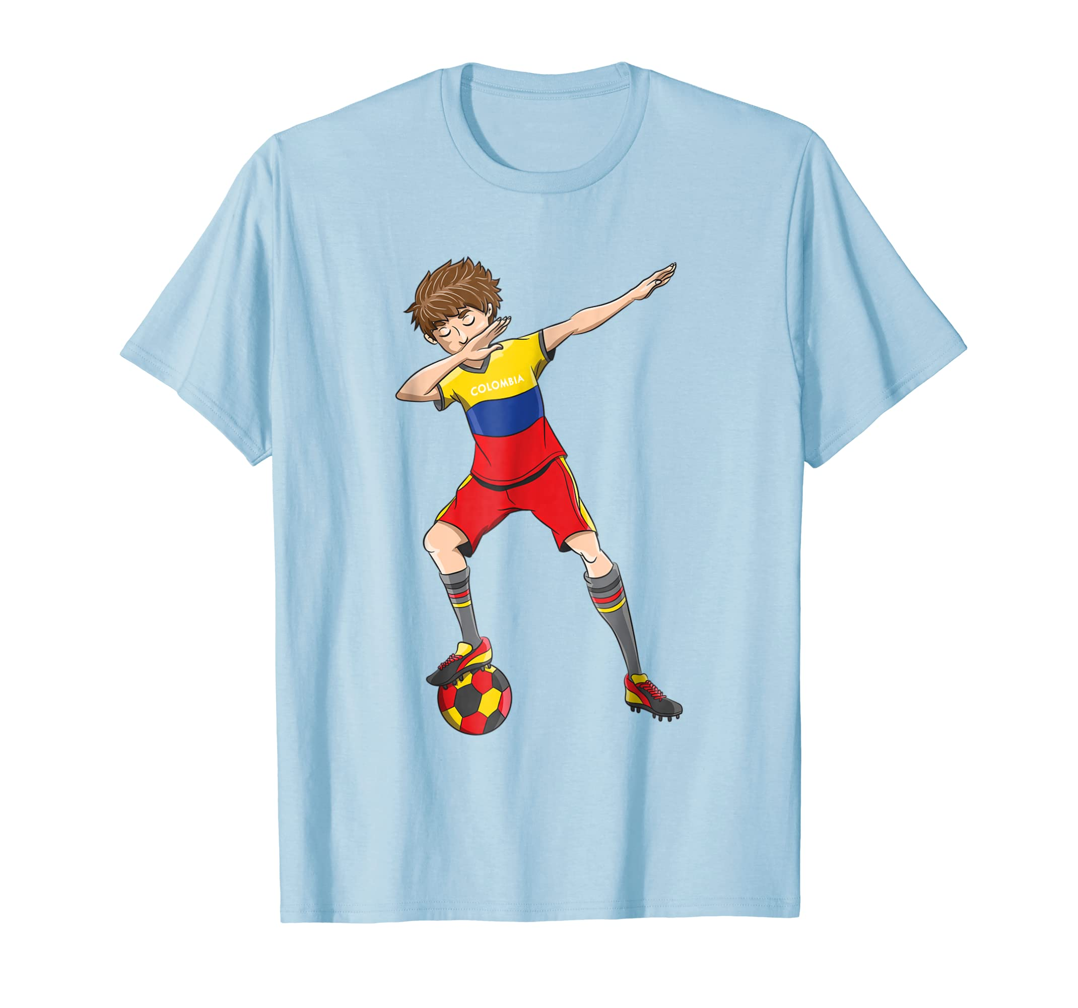 a26e86ce8 Dabbing Soccer Boy Colombia Jersey Shirt Colombian Football-alottee gift