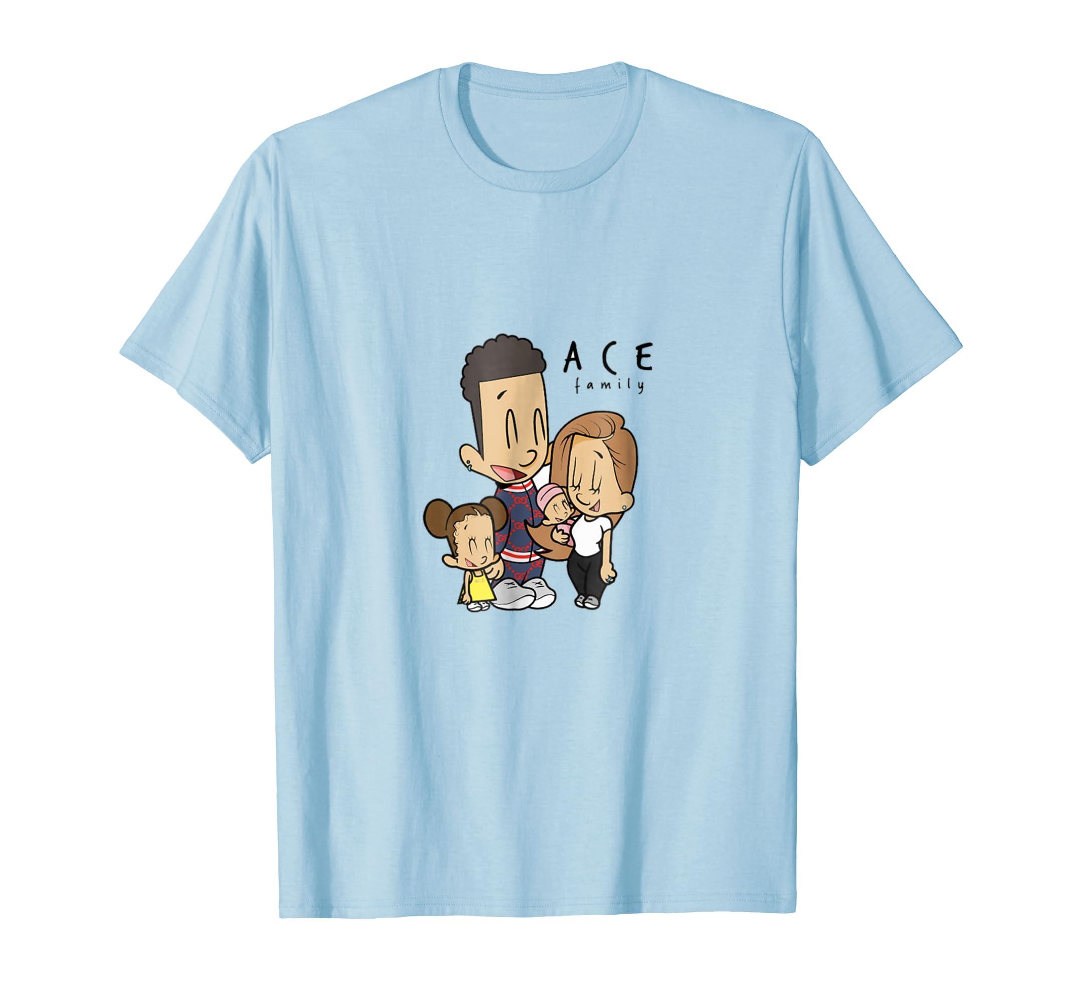 The Ace Family Cartoon Drawing Short Sleeve Shirt-azvn