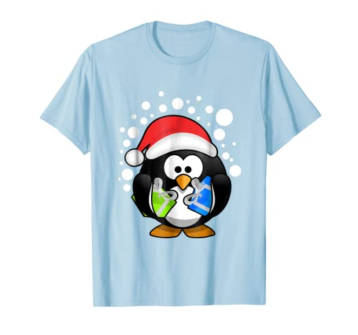 d9ea98cba618c Image Unavailable. Image not available for. Color  Cute Santa Penguin Shirt  Funny Christmas Gift Present Animal