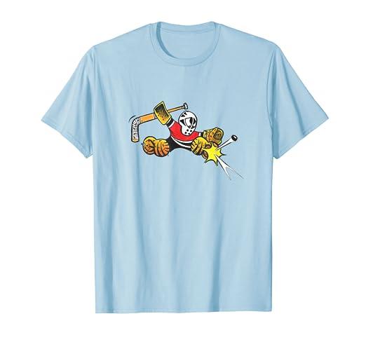Amazon Com Small Saves Hockey Goalie Kick Save Shirt Clothing