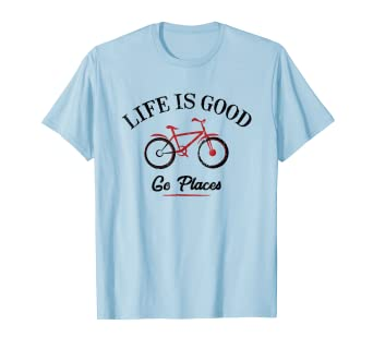 Amazon com: Life is Good - Go Places T-Shirt | bicycle: Clothing