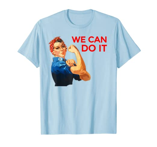 e9c23b0c Amazon.com: We Can Do It Rosie the Riveter Uplifting T-Shirt in Blue ...