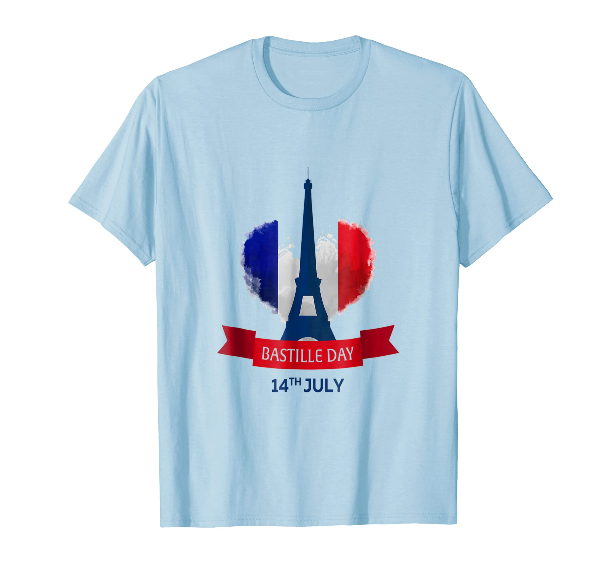 14TH JULY Bastille Day - French Flag Eiffel Tower T Shirt-AZP