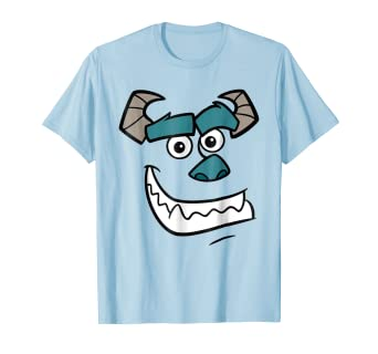 497feee9 Amazon.com: Disney Monsters Inc. Sulley Face Halloween Graphic T ...