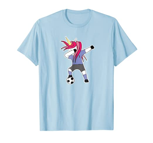 a089bd7ca4f Image Unavailable. Image not available for. Color  Unicorn Soccer Dab Shirt  Cute Gift Idea for Soccer Player