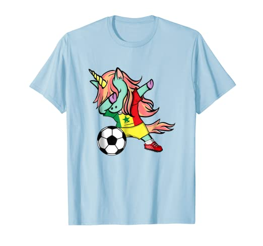 Image Unavailable. Image not available for. Color  Dabbing Unicorn Soccer  Senegal Jersey Shirt 2018 Football a8c014935