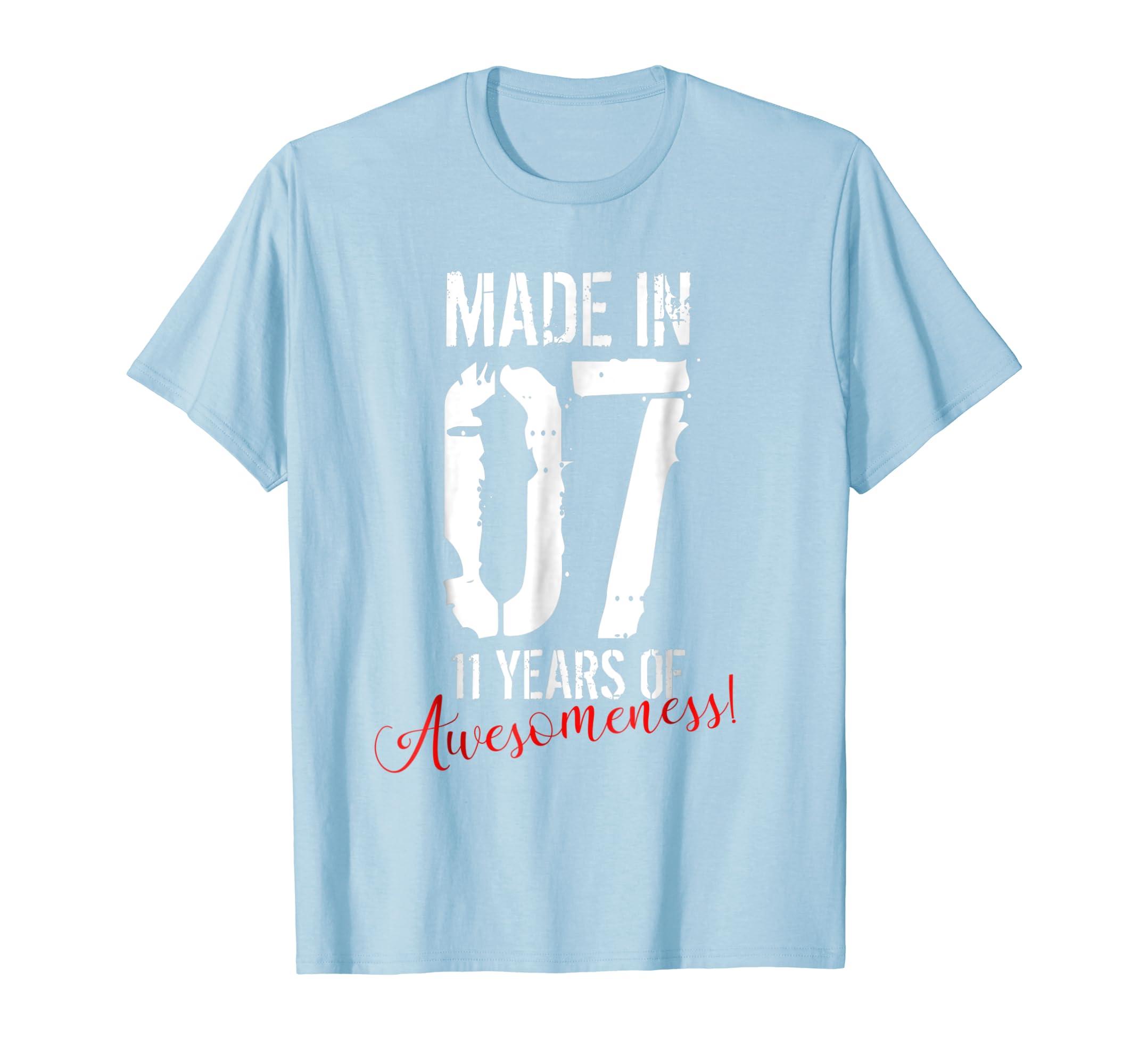 11 Year Old Birthday Gift Shirt Awesome 11th Birthday Gift-Awarplus