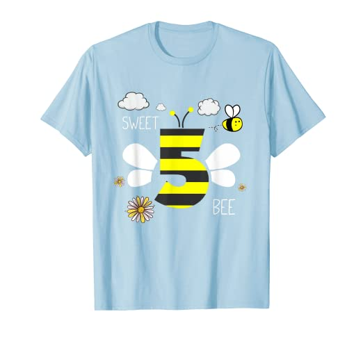 Image Unavailable Not Available For Color Sweet 5 Years Old Bee 5th Birthday T Shirt Gift Kid