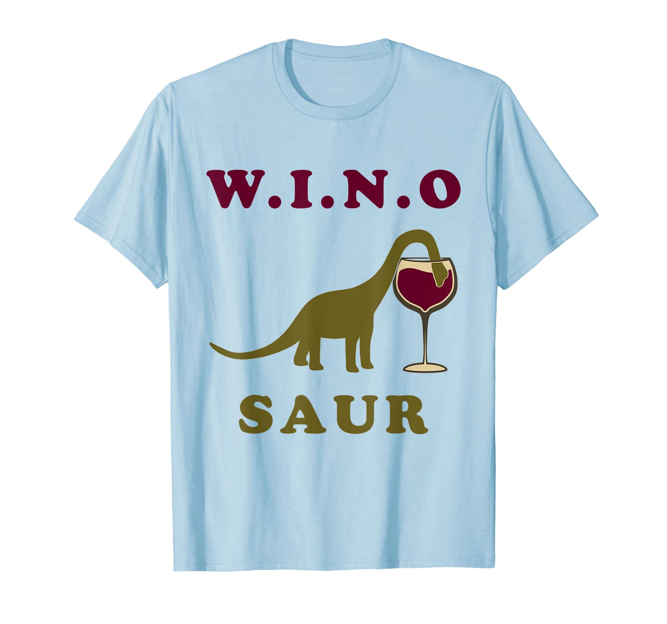 d45652485 Amazon.com: WINOSAUR Funny Wine Lovers T Shirt - Dino Tee Gifts: Clothing