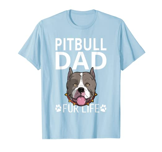 4c1c825e Image Unavailable. Image not available for. Color: Pitbull Dad Fur Life Dog  Fathers Day Gift Pun T-Shirt