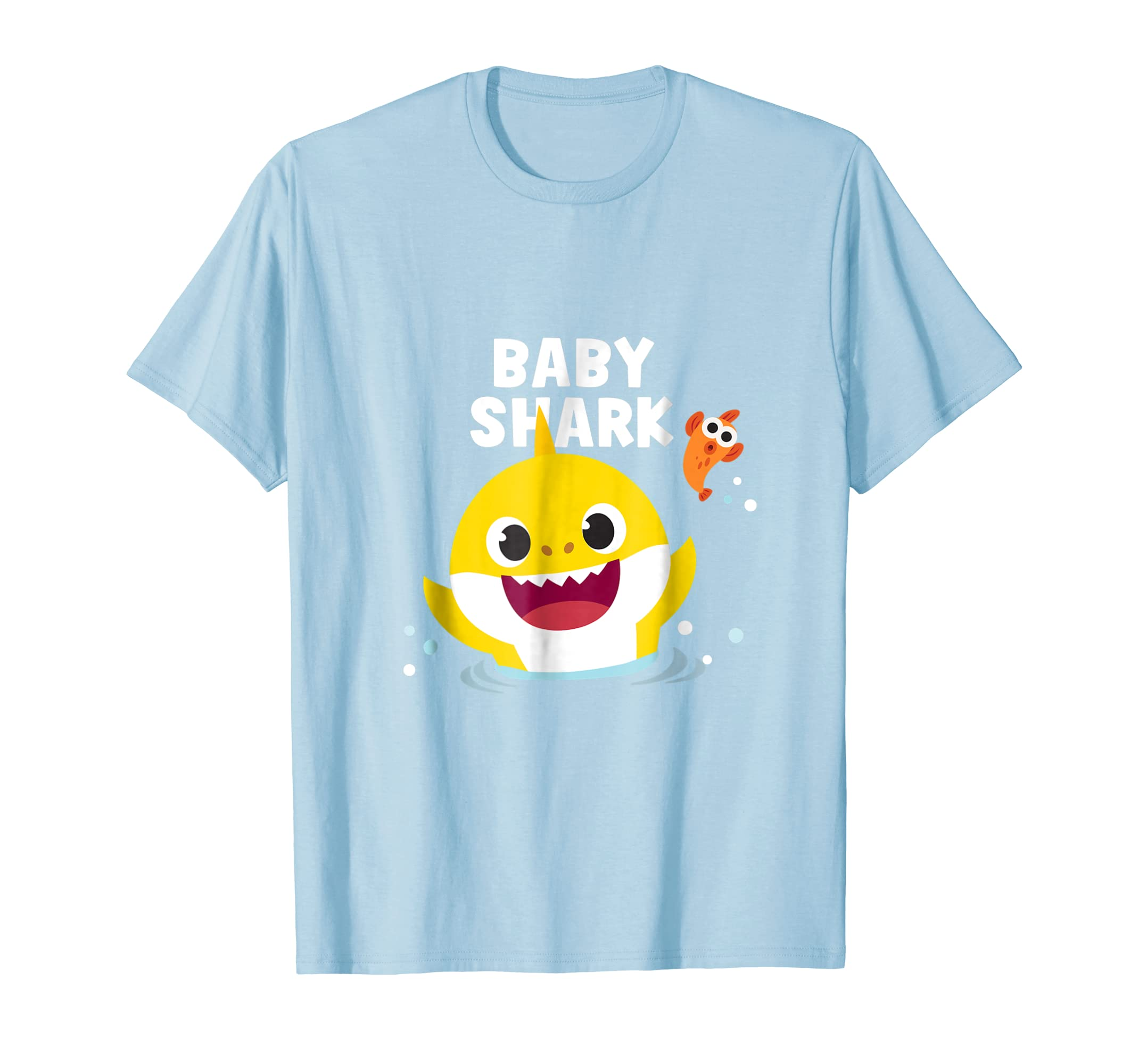 e1f89124 Amazon.com: Pinkfong Baby Shark t-shirt with text: Clothing